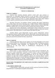 Anatomi Ana Bilim Dalı - Hacettepe Üniversitesi Tıp Fakültesi