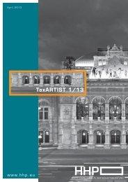 TaxARTIST - HHP - Hammerschmied Hohenegger und Partner