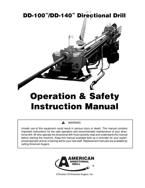 Operator's Manual - American Augers, Inc