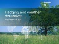 Stuart Brown, Swiss Re Capital Markets Limited - Weather Risk ...