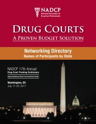 2011 networking Directory Names - National Drug Court Institute