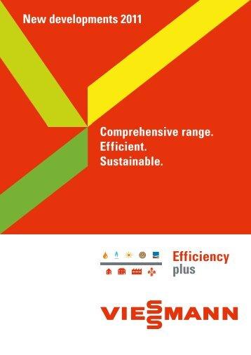 Comprehensive range. Efficient. Sustainable. New ... - Viessmann