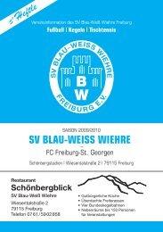 30.08.2009 SV Blau-Weiss Wiehre gegen FC Freiburg-St. Georgen