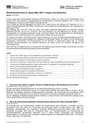 Reaktorkatastrophe in Japan März 2011: Fragen und Antworten