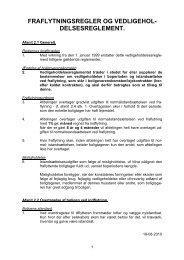 Vedligeholdelsesreglement for afd. 31 Kaj Ws GÃ¥rd