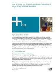 HP Vivera Ink Technology Backgrounder - Azerty.com