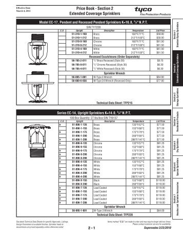 sc 1 st  Yumpu & Section 2 Extended Coverage Sprinklers - Tyco Fire Products