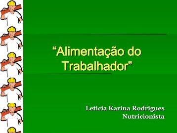 Letícia Rodrigues - Trabalho e Vida
