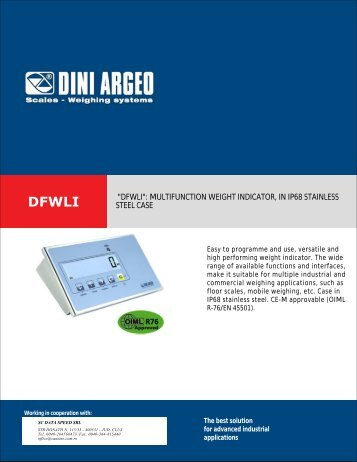 """dfwli"": multifunction weight indicator, in ip68 stainless steel case"