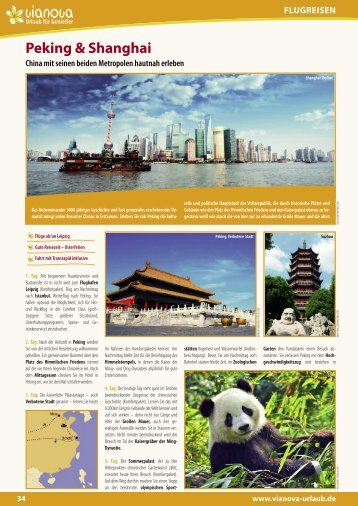 Peking & Shanghai FLUGREISEN - Vianova, Urlaub, Genießer