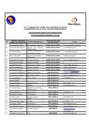 16ème Congrès - Liste des participants - association des societes d ...