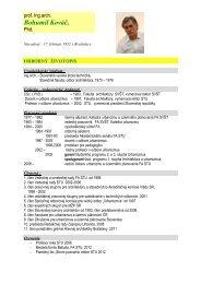 odborný profil - Fakulta architektúry STU