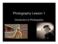 Photography Lesson 1 - Schools pages