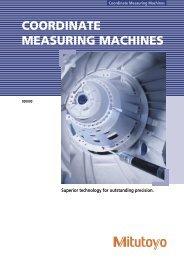 COORDINATE MEASURING MACHINES - Mitutoyo Scandinavia AB