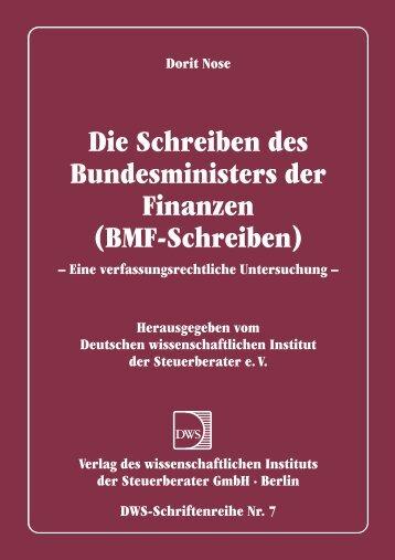 Die Schreiben des Bundesministers der Finanzen (BMF-Schreiben)