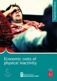 Economic costs of physical inactivity - BHF National Centre ...