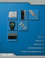 catv optical amplifiers - Holland Electronics