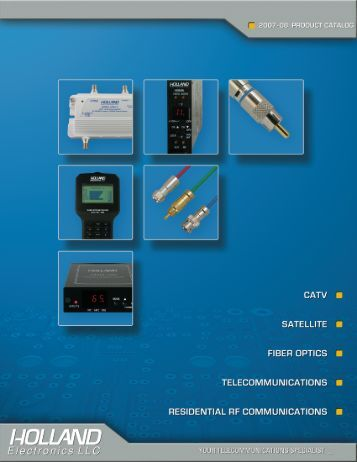 catv optical amplifiers - Holland Electronics