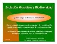 evolucion - Departamento de Ciencias Biológicas