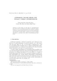 CONFORMAL VECTOR FIELDS AND TOTALLY UMBILIC ...