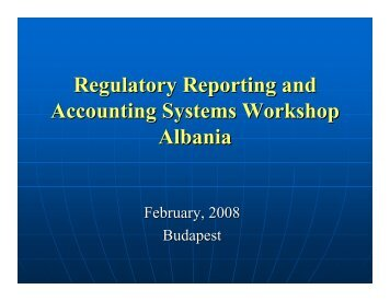 Regulatory Reporting and Accounting Systems Workshop ... - ERRA