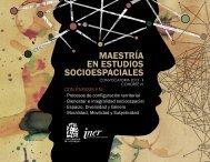 MAESTRÍA EN ESTUDIOS SOCIOESPACIALES - Instituto de ...