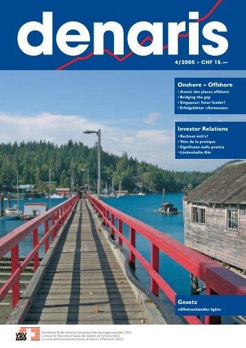 Denaris 04/05 Onshore Offshore Investor Relations Gesetz - VSV
