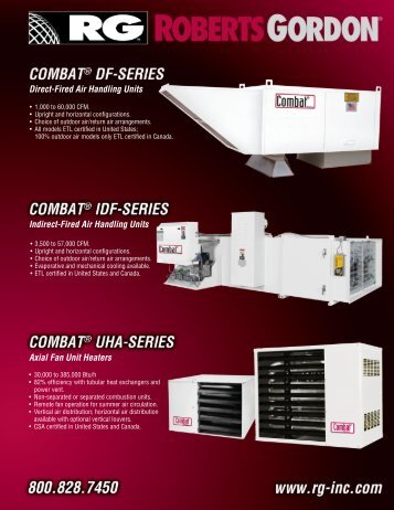 Direct-Fired Air Handling Units Indirect-Fired Air ... - Roberts Gordon