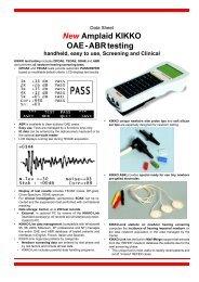 New Amplaid KIKKO OAE - ABR testing handheld, easy ... - Puretone