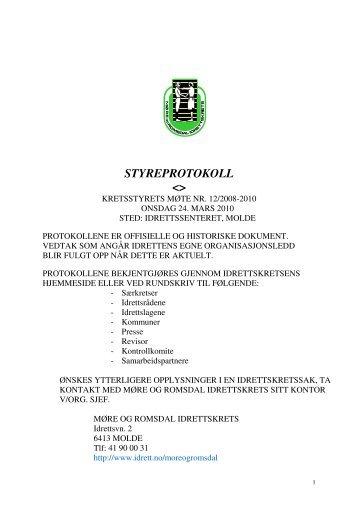 Protokoll 12.pdf - Norges idrettsforbund