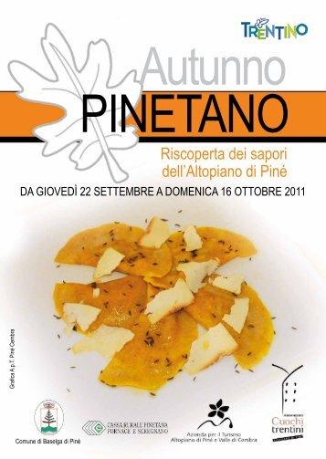 Autunno PINETANO - Strade del Vino e dei Sapori del Trentino