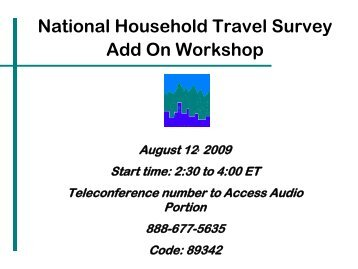 and SMPLAREA - National Household Travel Survey