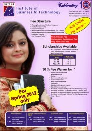 For Spring 2012 only For Spring 2012 only - Institute of Business ...