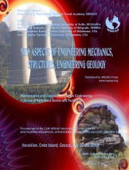new aspects of engineering mechanics, structures and - WSEAS