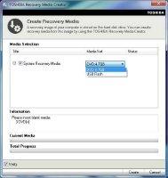 Require >7.8GB USB Flash Media or 3 4.7GB DVD disc