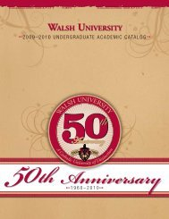 50th Anniversary - Walsh University