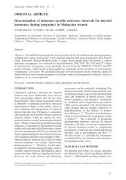 Determination of trimester specific reference intervals for ... - MJPath