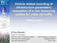 conception of a new measuring system for urban rail traffic