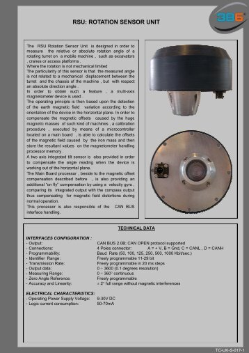 RSU: ROTATION SENSOR UNIT - 3b6.it