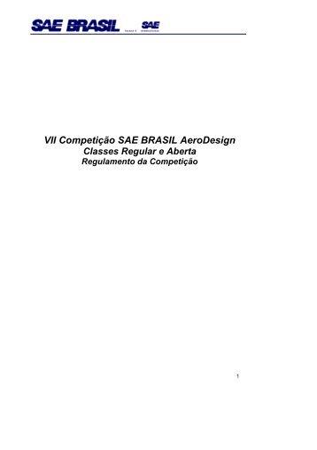 regulamento 2005 - UFSC Aerodesign