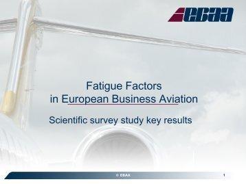 Fatigue Factors in European Business Aviation, Brian ... - eBace