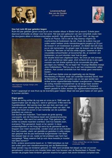 Levensverhaal - Thijs van der Zanden