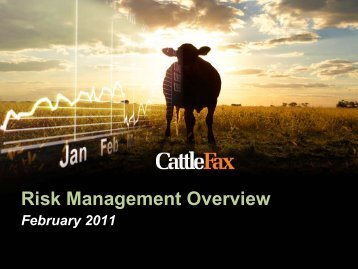 Risk Management Overview - CattleFax