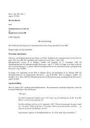 1 Den 7. juli 2011 blev i sag nr. 23/2011 ... - Revisornævnet
