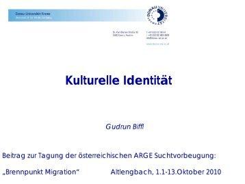 Vortrag Gudrun Biffl - Österreichische ARGE Suchtvorbeugung