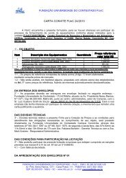 CARTA CONVITE FUnC 24/2010 - Universidade do Contestado