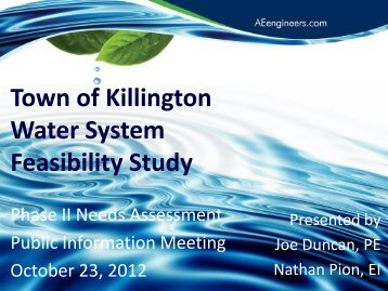 Water_Study_Phase_II_Report_10-23-12 - Town of Killington