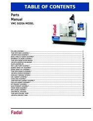 Fadal 5020A parts manual - Compumachine