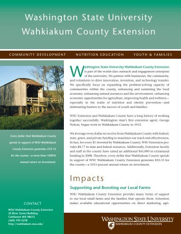 Washington state university Wahkiakum county ... - WSU Extension