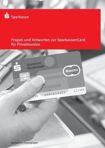 Fragen und Antworten zur SparkassenCard für Privatkunden ...